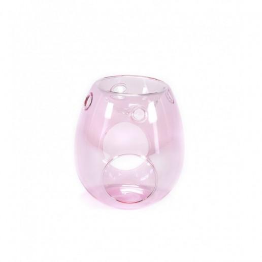 Pink - Clear Glass Wax Melt Burner