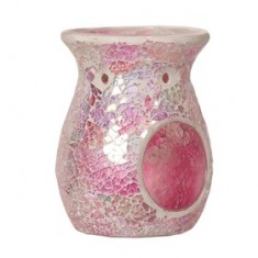 Pink Crackle Wax Melt Burner