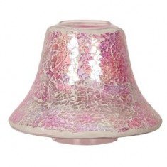 Pink Crackle Yankee Candle Jar Lamp Shade