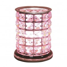 Pink Crystal - Electric Wax Melt Burner lit