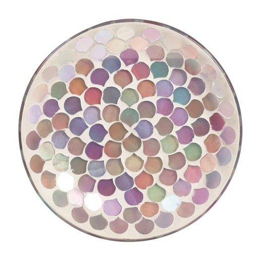 Pink Droplet Yankee Candle Jar Plate