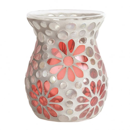 Pink Floral Wax Melt Oil Burner