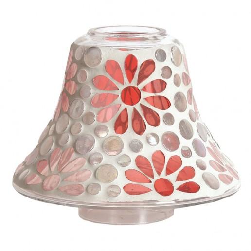 Pink Floral Yankee Candle Jar Lamp Shade