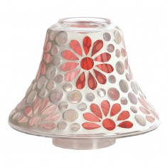 Pink Floral Yankee Candle Jar Lamp Shade