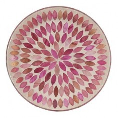 Pink Peals Yankee Candle Jar Plate