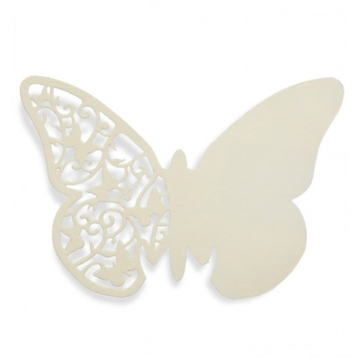 Place Card Butterfly  - Ivory