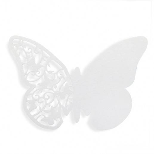 Place Card Butterfly - White