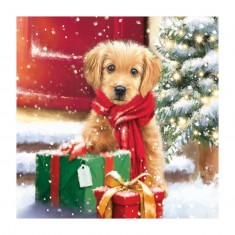 Puppy with Presents 8x SVP Charity Christmas Cards