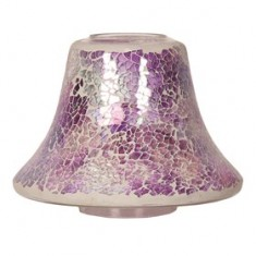 Purple Crackle Yankee Candle Jar Lamp Shade