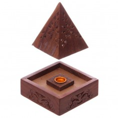 Pyramid Incense Cone Burner Box open