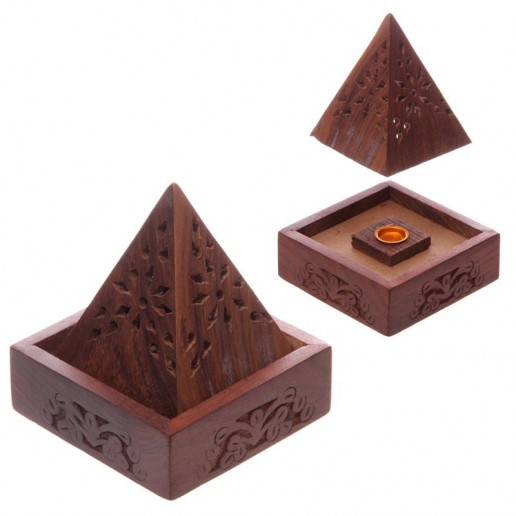 Pyramid Incense Cone Burner Box
