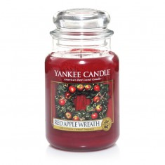 scented candles red apple wreath