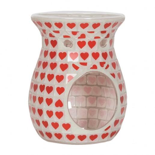 Red Heart Wax Melt Oil Burner
