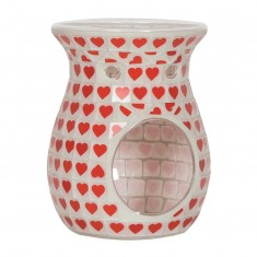 Red Heart Wax Melt Oil Burner