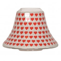 Red Heart Yankee Candle Jar Lamp Shade