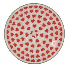 Red Heart Yankee Candle Jar Plate