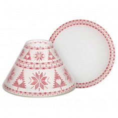 Red Nordic - Large Jar Lamp Shade & Plate