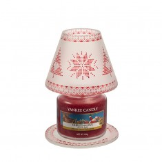 Red Nordic - Small Yankee Candle Lamp Shade & Plate