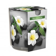 Relaxation Scented Candle in printed glass