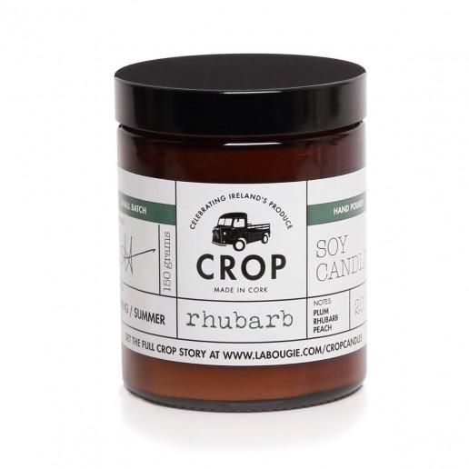 Rhubarb - Crop Soy Wax Candle in Brown Jar