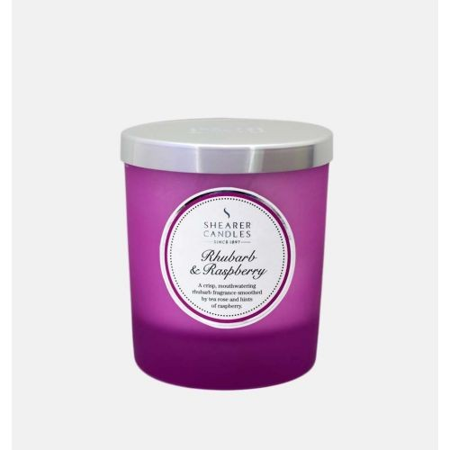 Rhubarb & Raspberry - Small Pillar Jar Candle