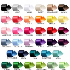 ribbons color chart for unity candles