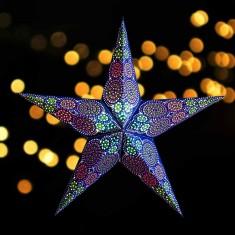 'Rondo' Navy - Large Paper Star Light lit