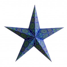 'Rondo' Navy - Large Paper Star Light