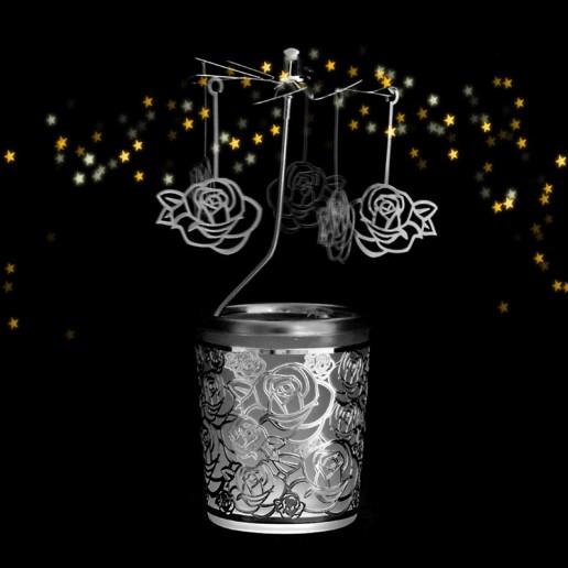 Rose - Spinning Tea Light Candle Holder