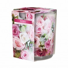 Roses - Scented Candle in Glass