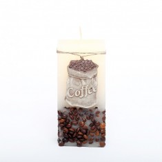 Coffee Candle Cube Large - Cream