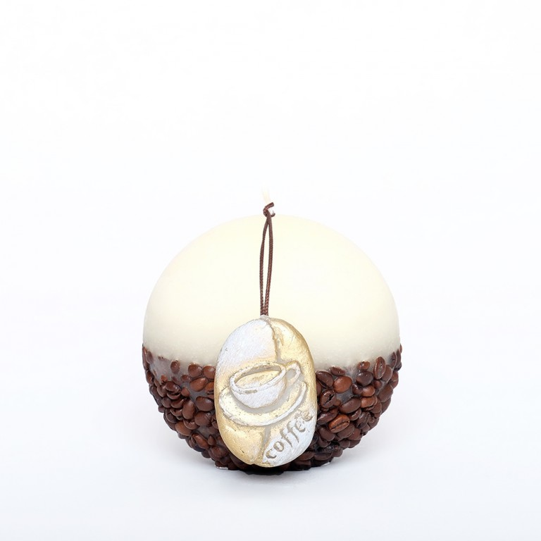 Coffee Candle Sphere 10cm - Cream
