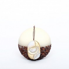 Coffee Candle Sphere 10cm - Cream