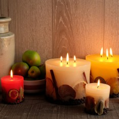Nature Collection personalised candles