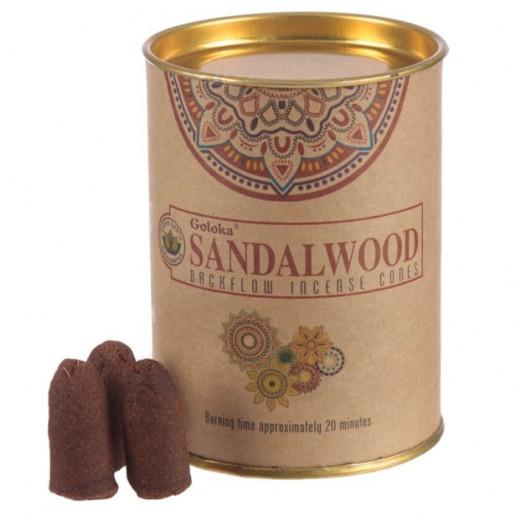 Sandalwood - Goloka Backflow Incense Cones