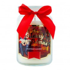 Santa Claus Scented Candle in Large Jar