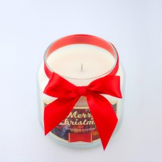 Santa Claus Scented Candle in Medium Jar angle