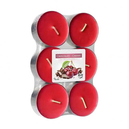 Scented tea Lights 8h - Chocolate Cherry