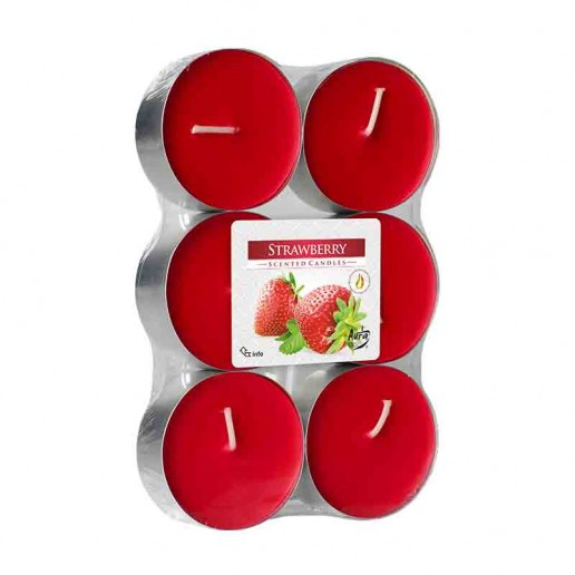 Scented tea Lights 10h - Strawberry