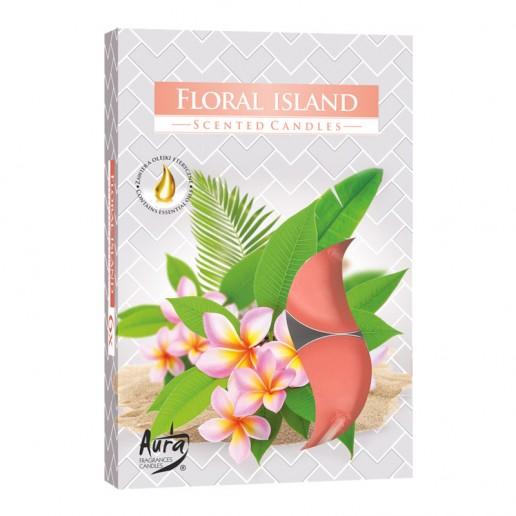 Scented Tea Lights 6pk - Floral Island