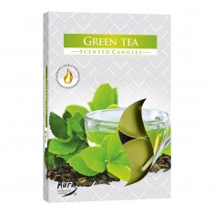 Scented Tea Lights 6pk - Green Tea