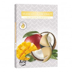 Scented Tea Lights 6pk - Mango - Coconut