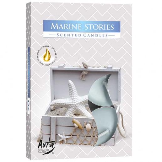 Scented Tea Lights 6pk - Marine Stories