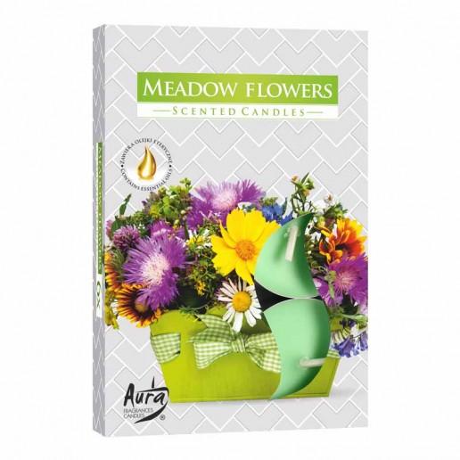 Scented Tea Lights 6pk - Meadow Flowers