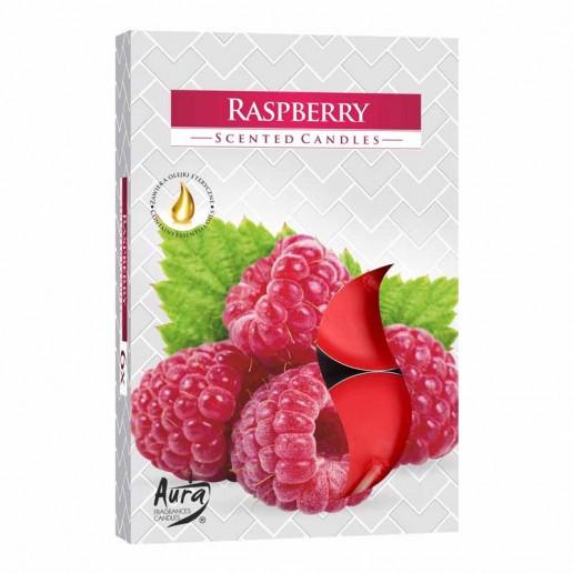 Scented Tea Lights 6pk - Raspberry