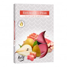 Scented Tea Lights 6pk - Rhubarb - Pear