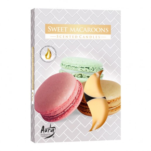 Scented Tea Lights 6pk - Sweet Macaroons