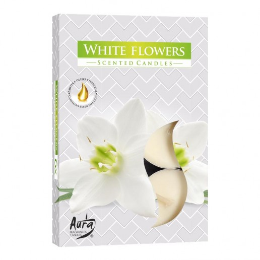 Scented Tea Lights 6pk - White Flowers