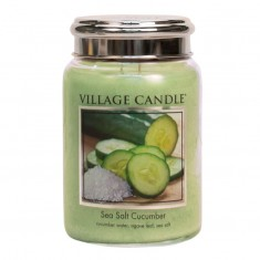 Sea Salt Cucumber - Village Candle Large Jar