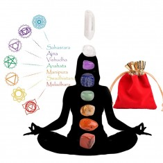 Seven Chakras 8pc Set Gemstones Healing Crystals